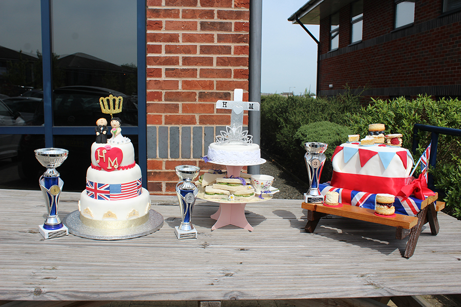 winning entries for Royal Wedding cake competition