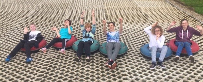 Affinity Youth Group snow tubing