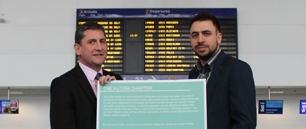 Newcastle Airport Sign Autism Alliance UK charter