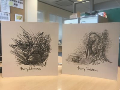 'Snowdrop the Spikeshuffler' Christmas Cards